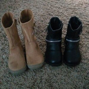 2 pair of boots for Toddler